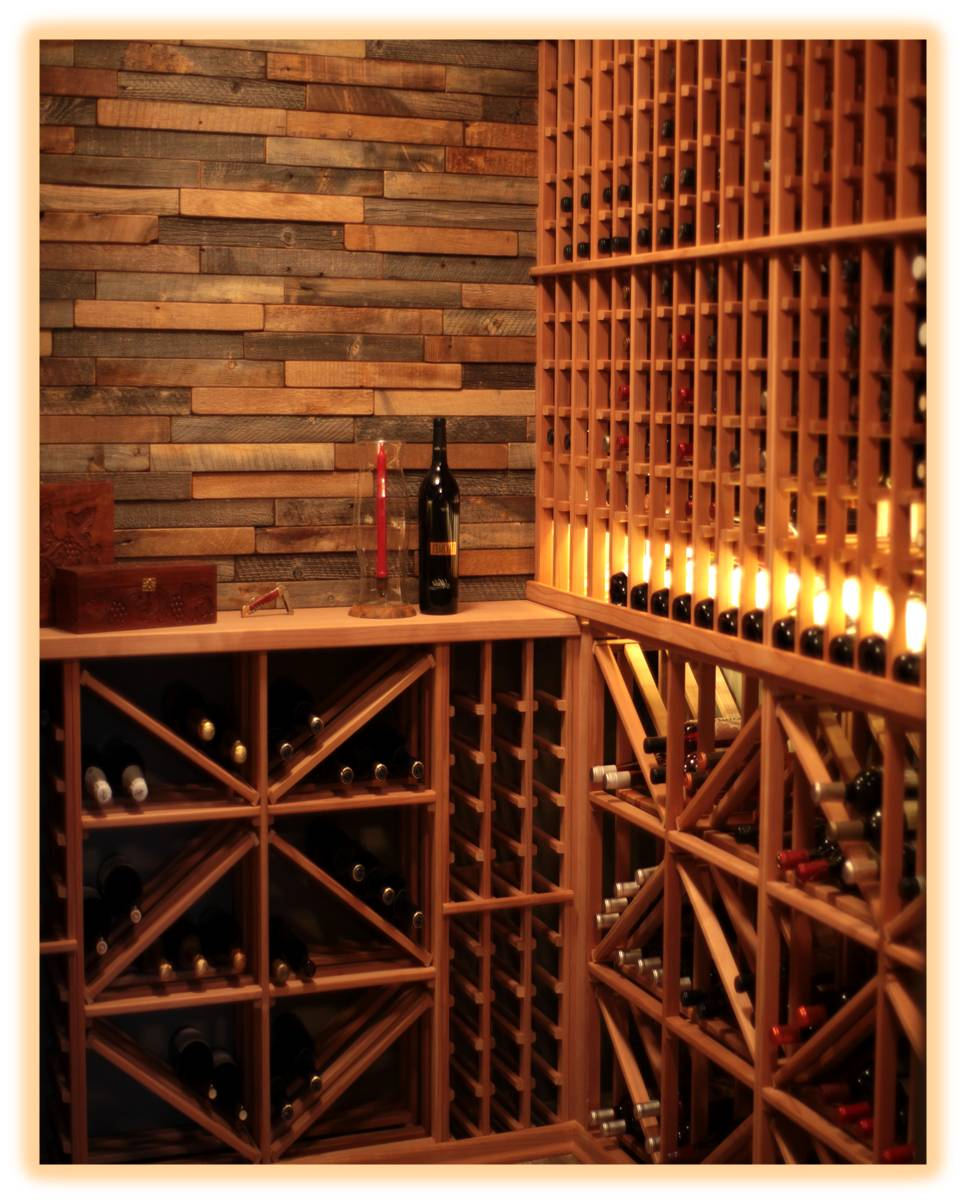 Unique And Practical Wine Rack System For A Home Wine Cellar In - Home wine cellar design