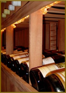Daves Custom Wine Cellar was constructed in his basement in Palos Heights