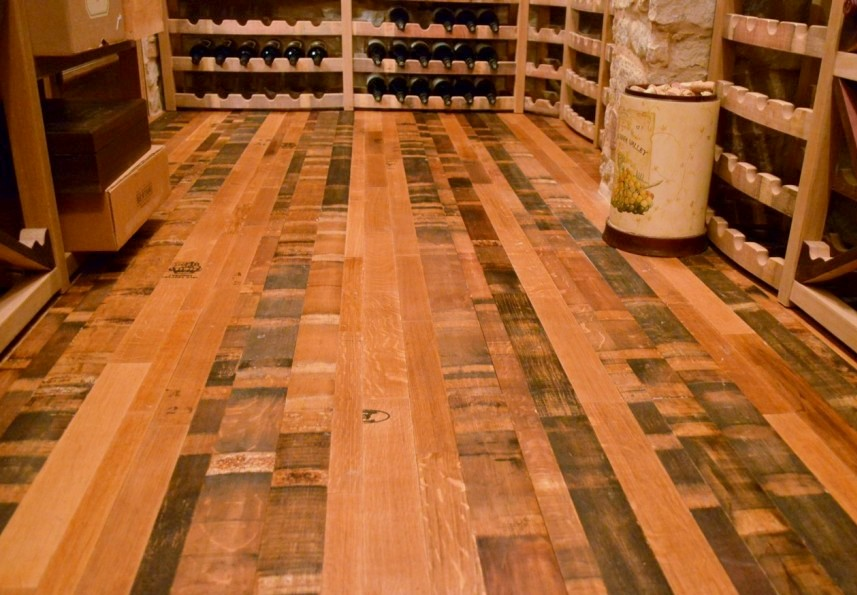 Wine Barrel Flooring - Custom Wine Cellars Florida