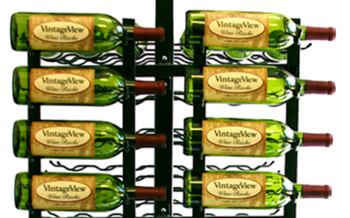 Vintage View Metal Wine Racks