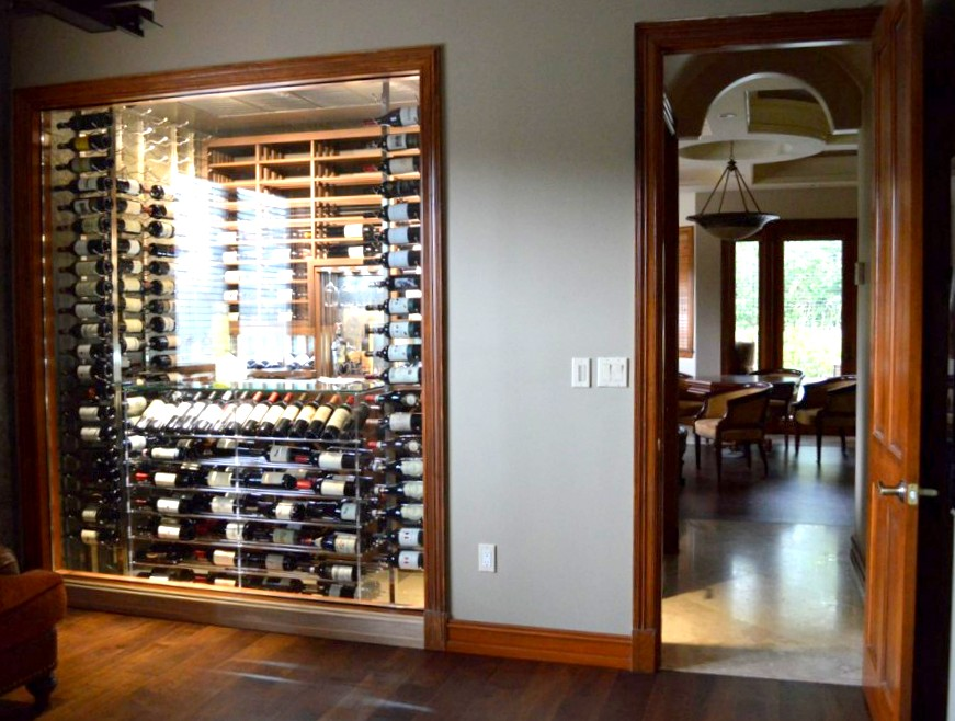 Contemporary Wine Cellar North Miami Florida Project