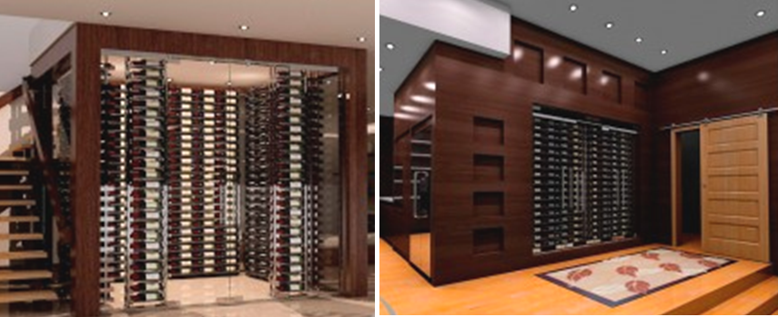 Stylish Ultra Label Ladder Wine Racks