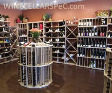 Completed Wine Store Wine Racks Installation
