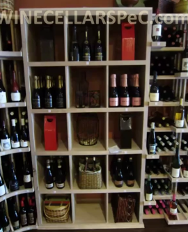 Rectangular Bins Wine Store Wine Racks