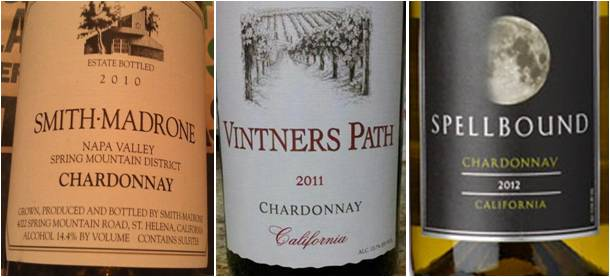 California Chardonnay wines