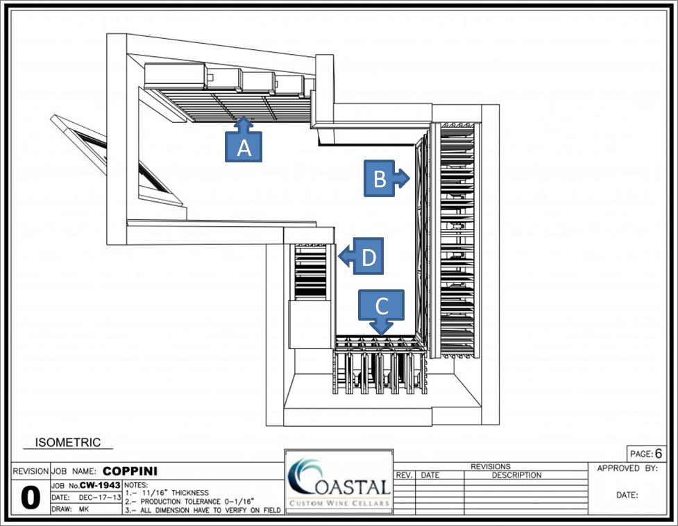 Coto de Caza wine cellar plan