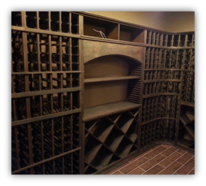 custom wine racking Philips wine cellar