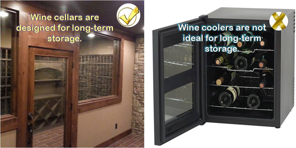wine cellar vs wine cooler