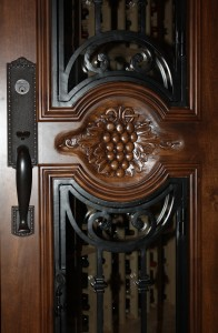 Wine Cellar Door in Knotty Alder with Chappo Stain and Lacquer
