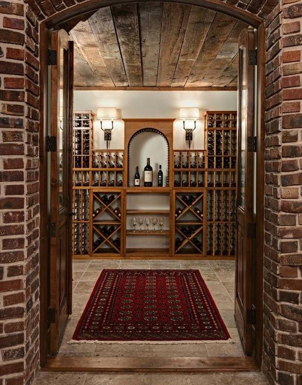 Florida Home Wine Cellar Storage Design