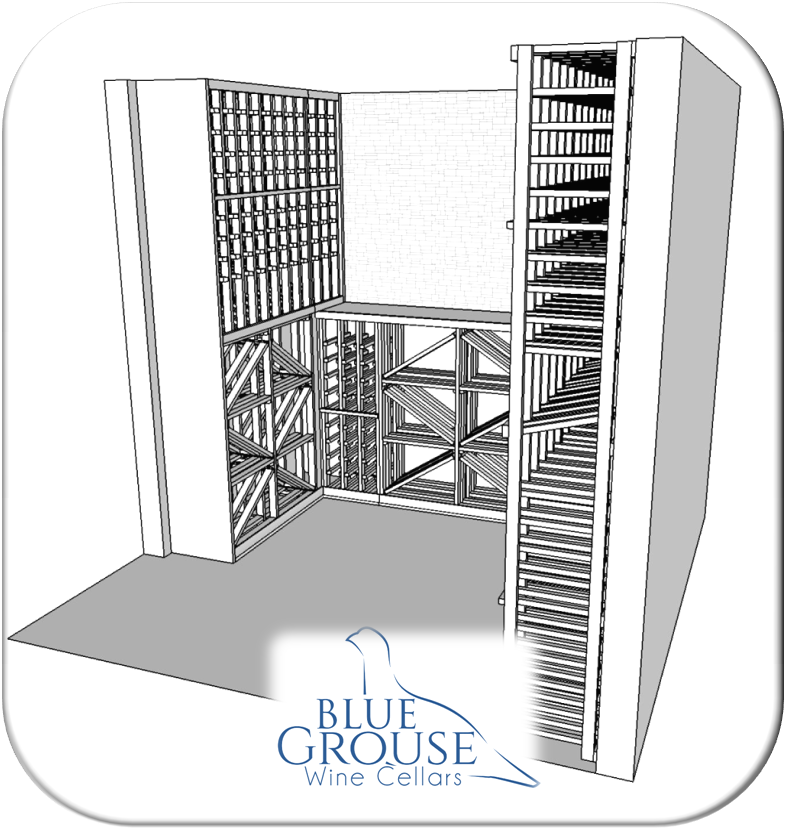 Vancouver modular wine cellar design