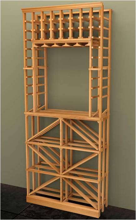 Vancouver modular wine rack Artisan collection