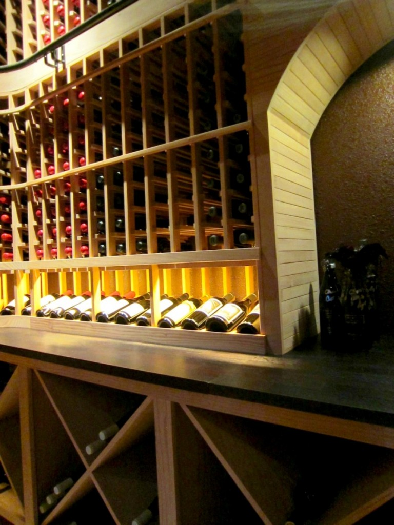 custom wine racks front  wall Flower Mound wine  cellar
