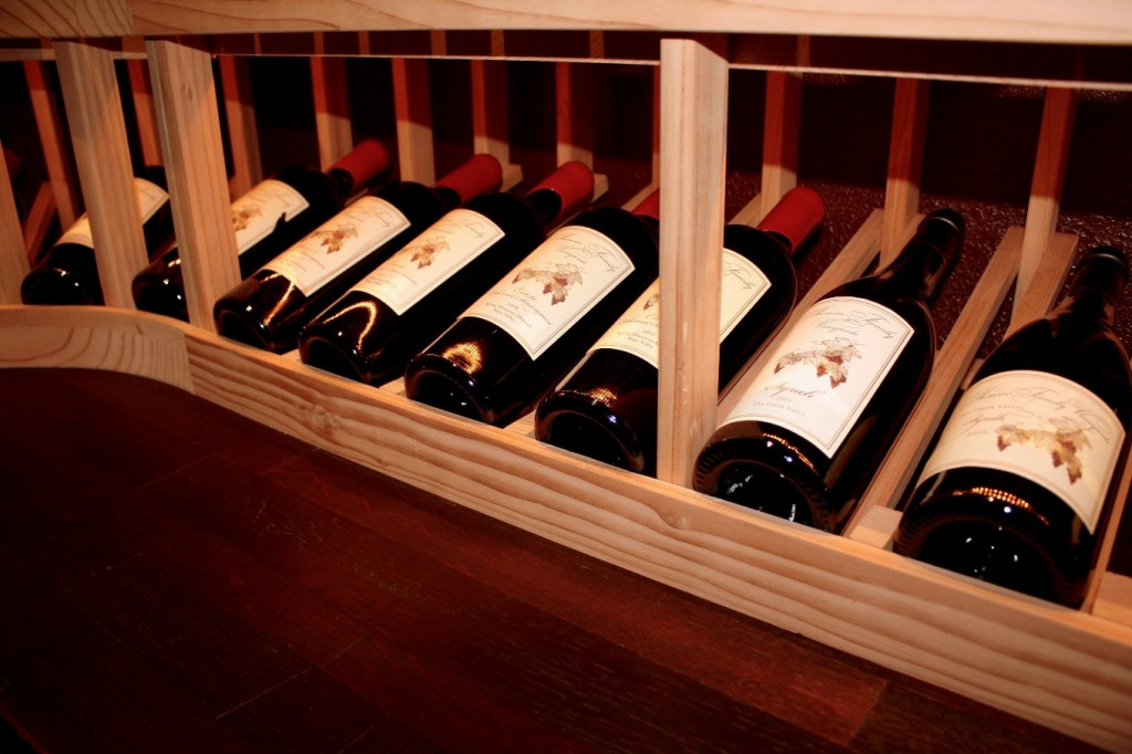 display wine racks and tabletop Texas wine cellar