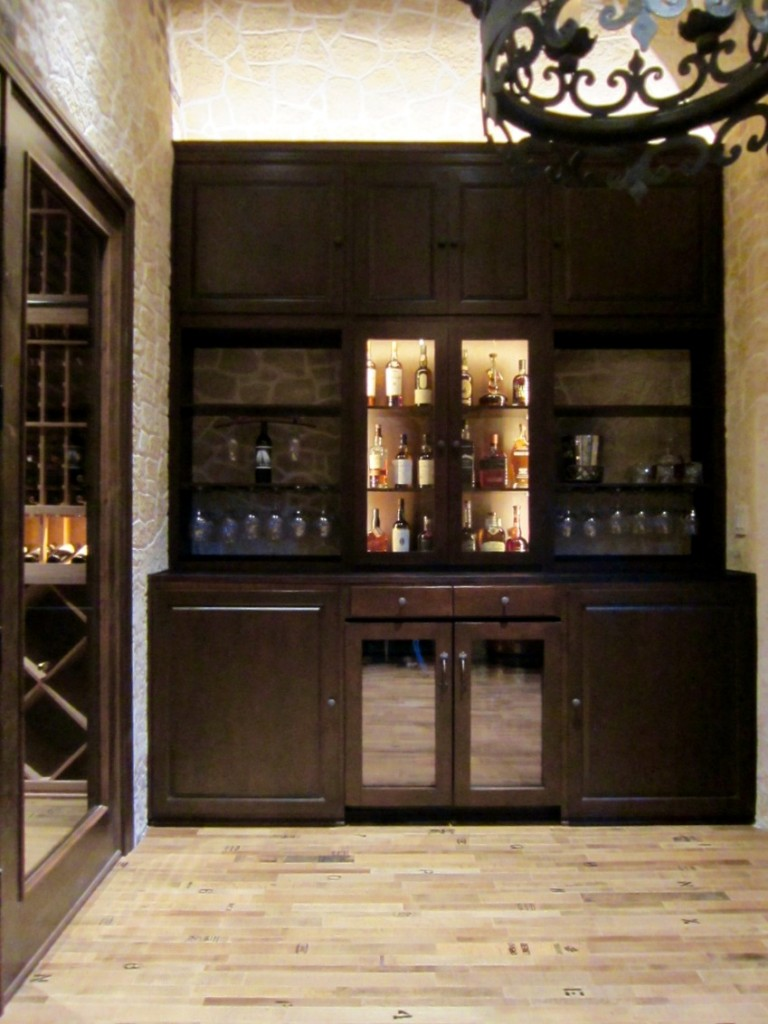 lovely home bar in wine tasting room Flower Mound Texas
