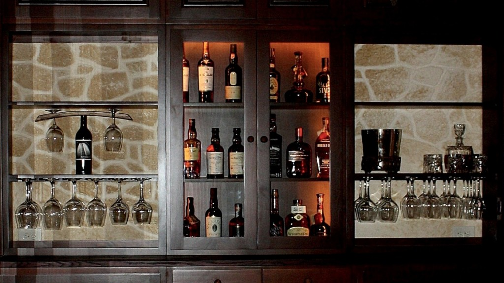 wine tasting room Flower Mound Texas home bar area