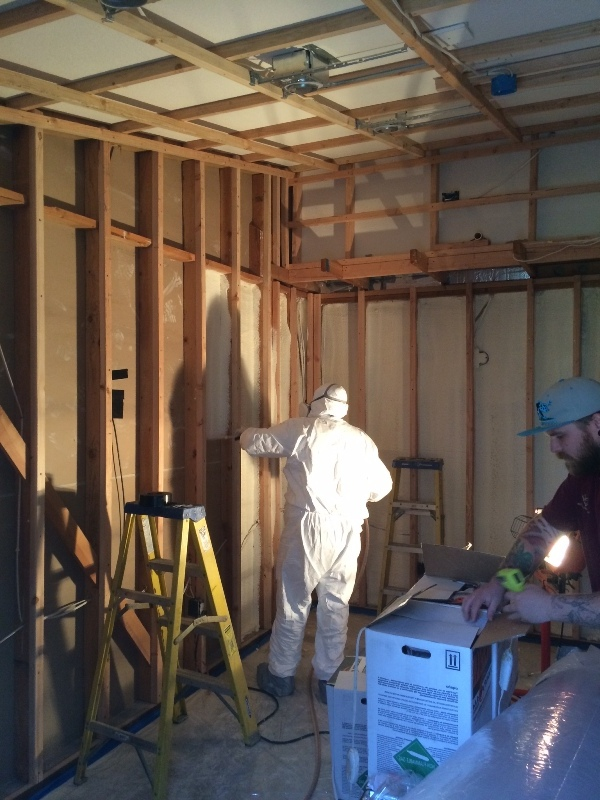 California wine cellar insulation using spray foam