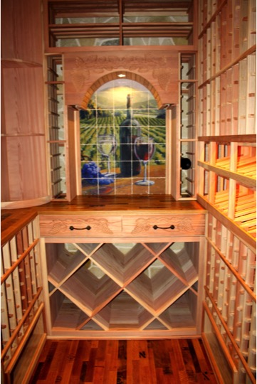 Custom Racking Deisgn Texas Home Wine Cellar
