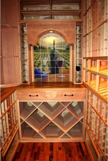 Custom Racking Deisgn Texas Home Wine Cellar