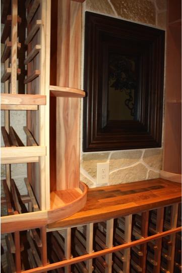 Custom Wine Racks and Window Small Wine Room Conversion Texas