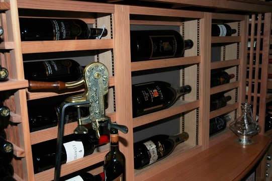 Racking Design Home Wine Cellar  San Diego California