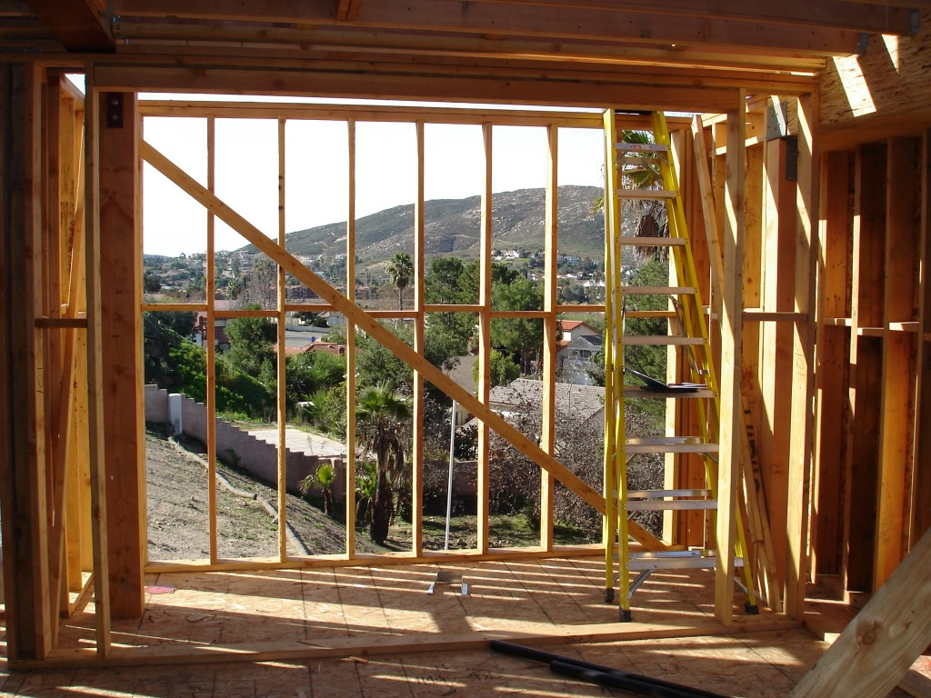 Rancho Bernardo San Diego California Wine Cellar Framing in Progress