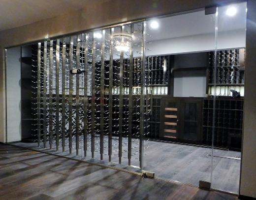 A 2,055-Bottle Wine Cellar Tasting and Cigar Room