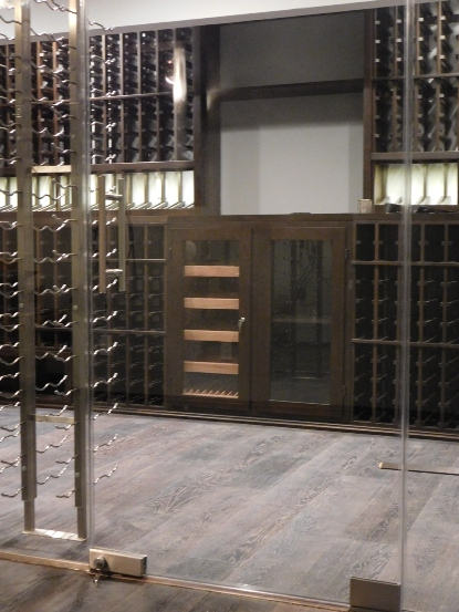 California Contemporary Wine Cellar Design
