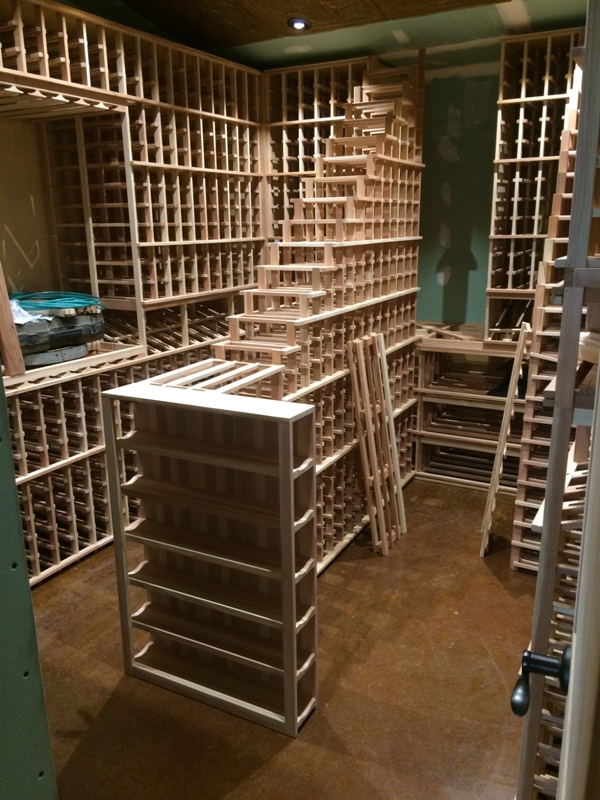 California Wine Cellar Installation Wooden Wine Racking