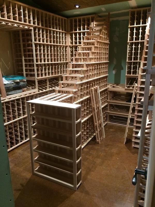 California Wine Cellar Installation Wooden Wine Racking
