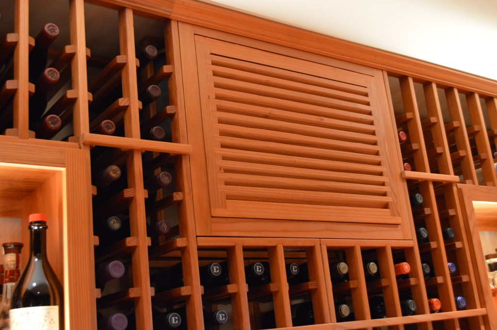 Wine Cellar Cooling Unit Louvered Grill Irvine California