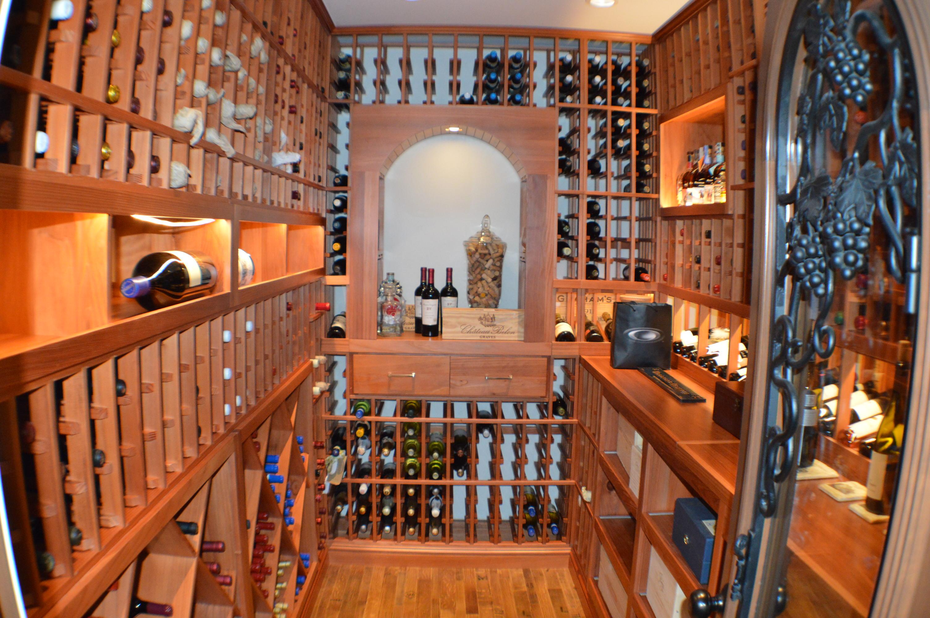 Wine Cellar Redwood Racks Irvine California