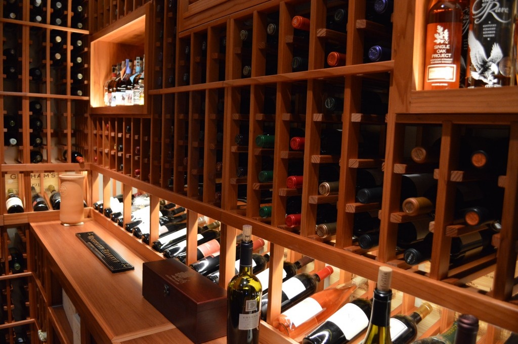 Wine Display Row LED Lighting Irvine California