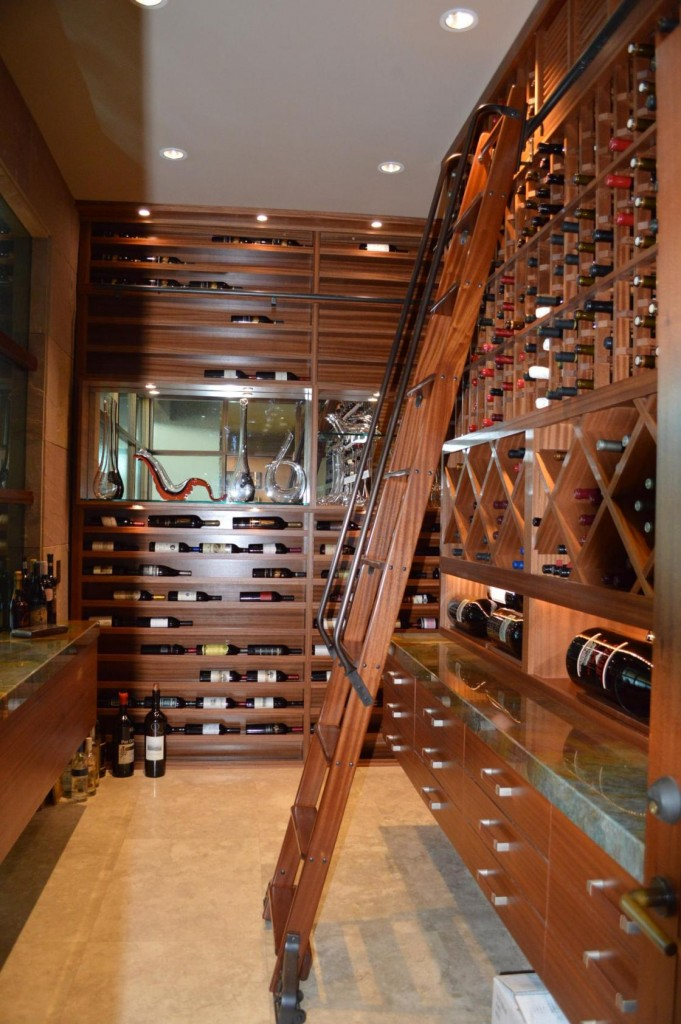 Contemporary La Jolla California  Home Wine Cellar Design