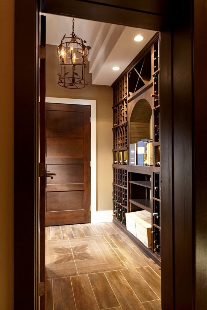 Traditional Home Wine Cellar West Vancouver Builders