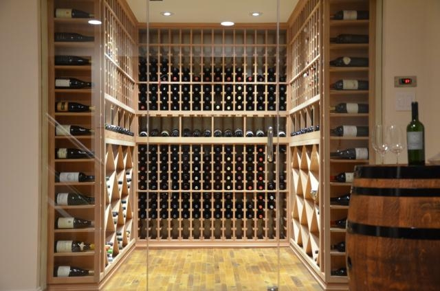 Wine Barrel Flooring Texas Wine Cellar Project
