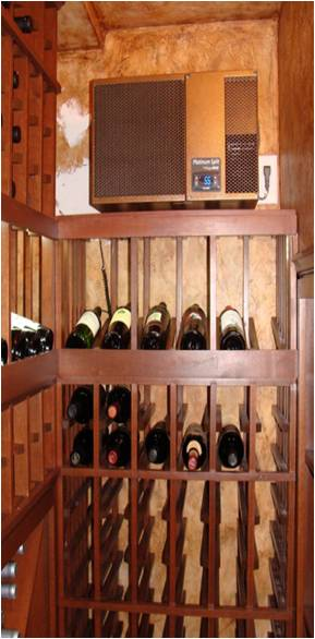 Wine Cellar Equipped with a WhisperKOOL Cooling Unit