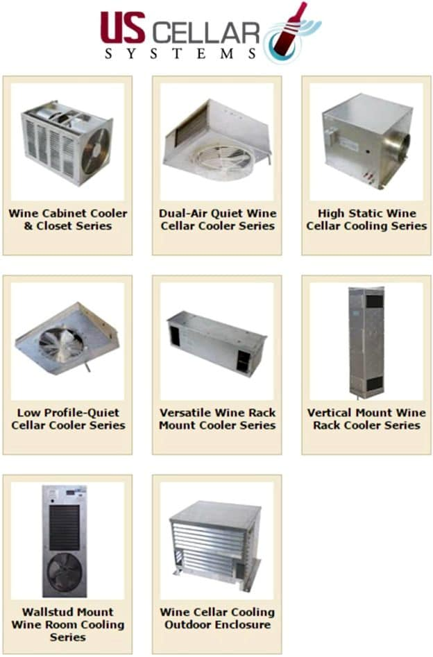 US Cellar Systems Wine Cooling Products